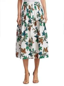 Akris Punto Tropical Print Skirt