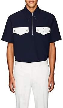 Calvin Klein Men's Oversized Quarter-Zip Shirt