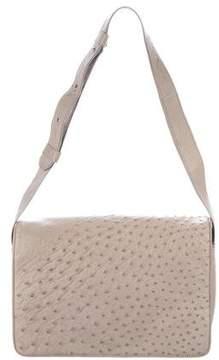 Donna Karan Ostrich Messenger Bag