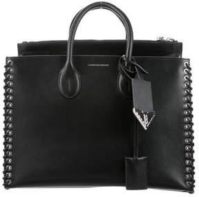 Calvin Klein Whipstitch Leather Tote
