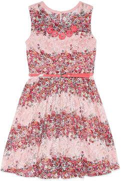Knitworks Knit Works Sleeveless Lace Skater Dress - Girls' 7-16