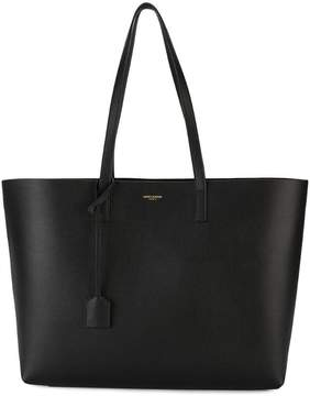 Saint Laurent large black leather shopper tote bag - BLACK - STYLE