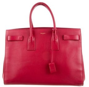 Saint Laurent Large Sac de Jour - RED - STYLE