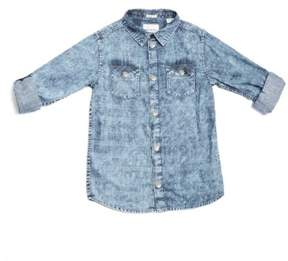 GUESS Boy's Mineral-Wash Chambray Shirt (7-18)