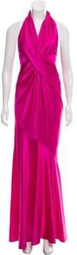 Donna Karan Silk Halter Gown