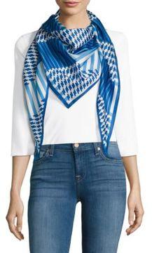 Echo Parisian Striped Silk Scarf