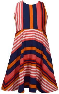 Bonnie Jean Girls 7-16 Striped Lace-Up Skater Dress