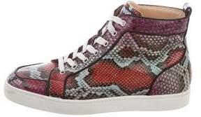 Christian Louboutin Water Snake High-Top Sneakers