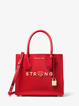 Michael Kors Mercer Strong Perforated Leather Crossbody - RED - STYLE