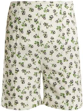Emilia Wickstead Aloha rose-print high-rise georgette shorts