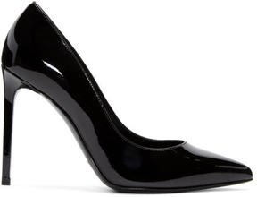 Saint Laurent Black Patent Leather Paris Heels