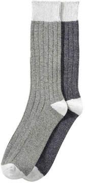 Joe Fresh Men's 2 Pack Casual Socks, Olive (Size 10-13)