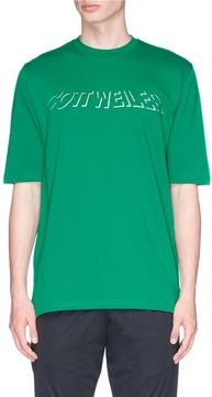 Cottweiler Holographic logo print T-shirt