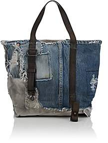Barneys New York Women's Small Denim & Canvas Tote Bag-Blue