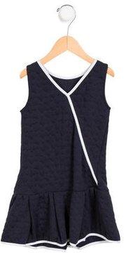 Armani Junior Girls' Textured Sleeveless Dress
