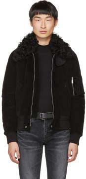 Saint Laurent Black Corduroy Bad Lieutenant Bomber Jacket