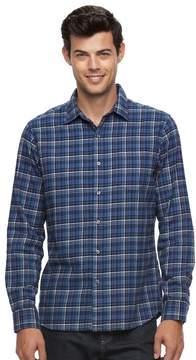 Apt. 9 Men's Slim-Fit Plaid Brushed Flannel Button-Down Shirt