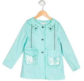 Little Marc Jacobs Girls' Hardware-Accented Rain Jacket