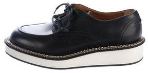 Givenchy Rottweiler Chain-Embellished Leather Derby Shoes