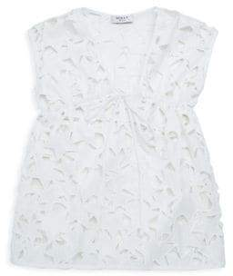 Milly Minis Toddler's, Little Girl's& Girl's Stars Embroidery Coverup