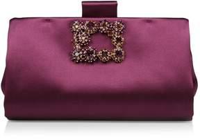 Roger Vivier Silk Floral Embellished Clutch Bag