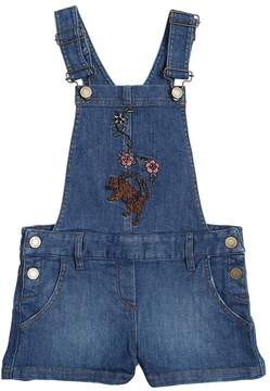 Zadig & Voltaire Leopard & Flowers Stretch Denim Overalls