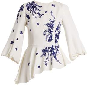 Andrew Gn Embellished floral-embroidered blouse