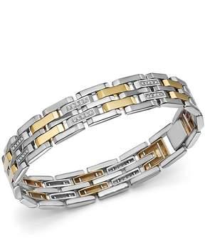 Bloomingdale's Diamond Men's Bracelet in 14K Yellow Gold & Sterling Silver, 0.50 ct. t.w. - 100% Exclusive