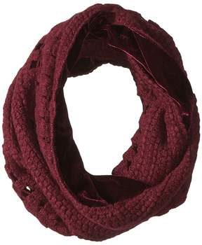 Collection XIIX Velvet to Knit Loop Scarves