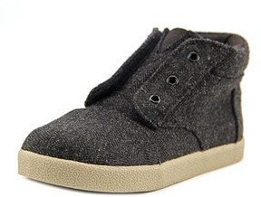 Toms Paseo High Infant Round Toe Canvas Gray Sneakers.