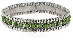 Philippe Audibert Wappo Green Agate Stretch Bracelet