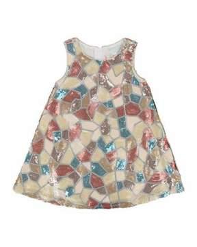 Billieblush Sleeveless Mosaic Pattern Sequin Dress, Size 3-8