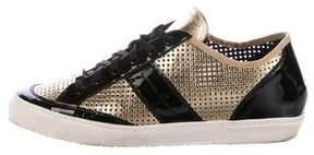 Alessandro Dell'Acqua Metallic Leather Sneakers