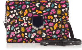 Jimmy Choo LAURA Cerise Mix Leopard Print Pony Mini Bag