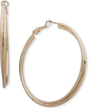 Nine West Double Row Clutchless Hoop Earrings