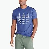 J.Crew Factory J.Crew Mercantile Broken-in boat graphic T-shirt