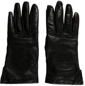Just Cavalli Leather Logo Gloves