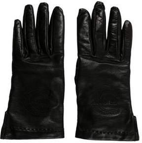 Just Cavalli Leather Logo Gloves