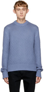 Calvin Klein Blue Cable Knit Sweater