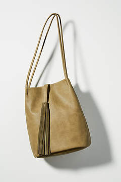 Anthropologie Tassel Tote Bag