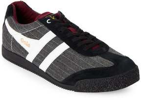 Gola Grey & Black Harrier Low Top Sneakers