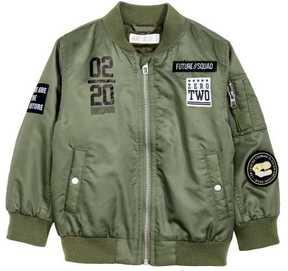 H&M Bomber Jacket with Appliqués