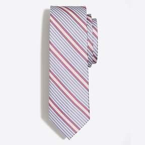J.Crew Mercantile Diagonal stripe seersucker tie