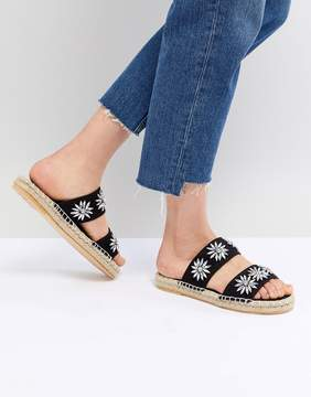 New Look 2-Part Bling Strap Flat Espadrille