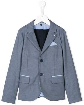 Emporio Armani Kids patterned blazer