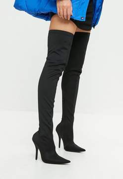 Missguided Black Extreme Pointed Over The Knee Boots