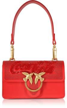 Pinko Red Mini Love Paprika Shoulder Bag