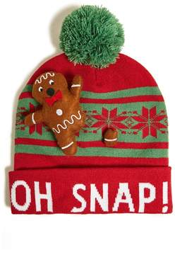 21men 21 MEN Men Gingerbread Graphic Beanie