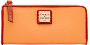 Dooney & Bourke Pebble Grain Zip Clutch Wallet - APRICOT - STYLE