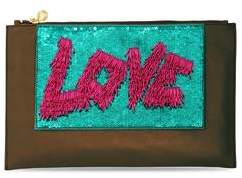 Forest of Chintz The Love Clutch - Green And Pink